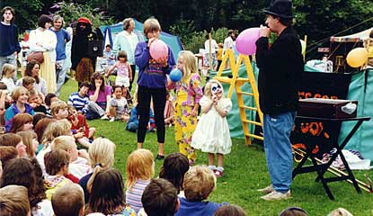 Entertainment at family events in Dorset and Wiltshire