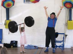 Nobody, not even big strong dads, have been able to lift the world's heaviest weight – Children are the stars of this show