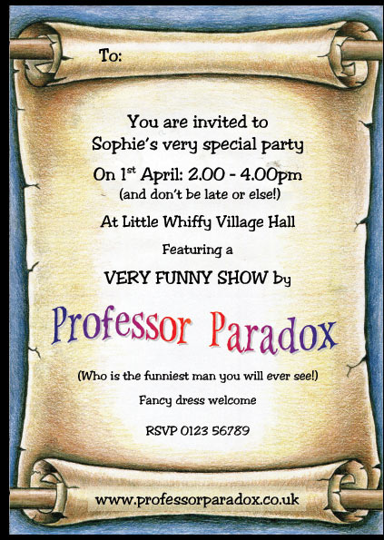 free children's party invites